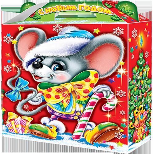 """Новогодний подарок """"Маус"""" (картон)"""