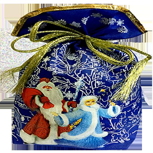 Мешочек Деда Мороза (текстиль)