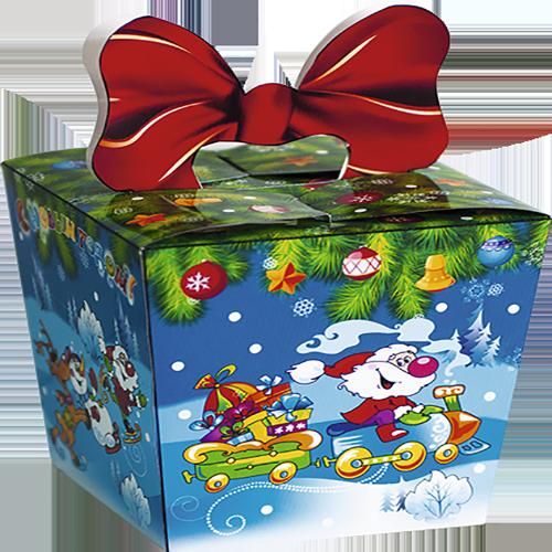 Подарок с бантиком (картон)
