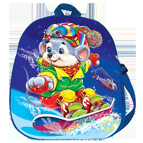 """Рюкзак """"Мышонок на сноуборде"""""""