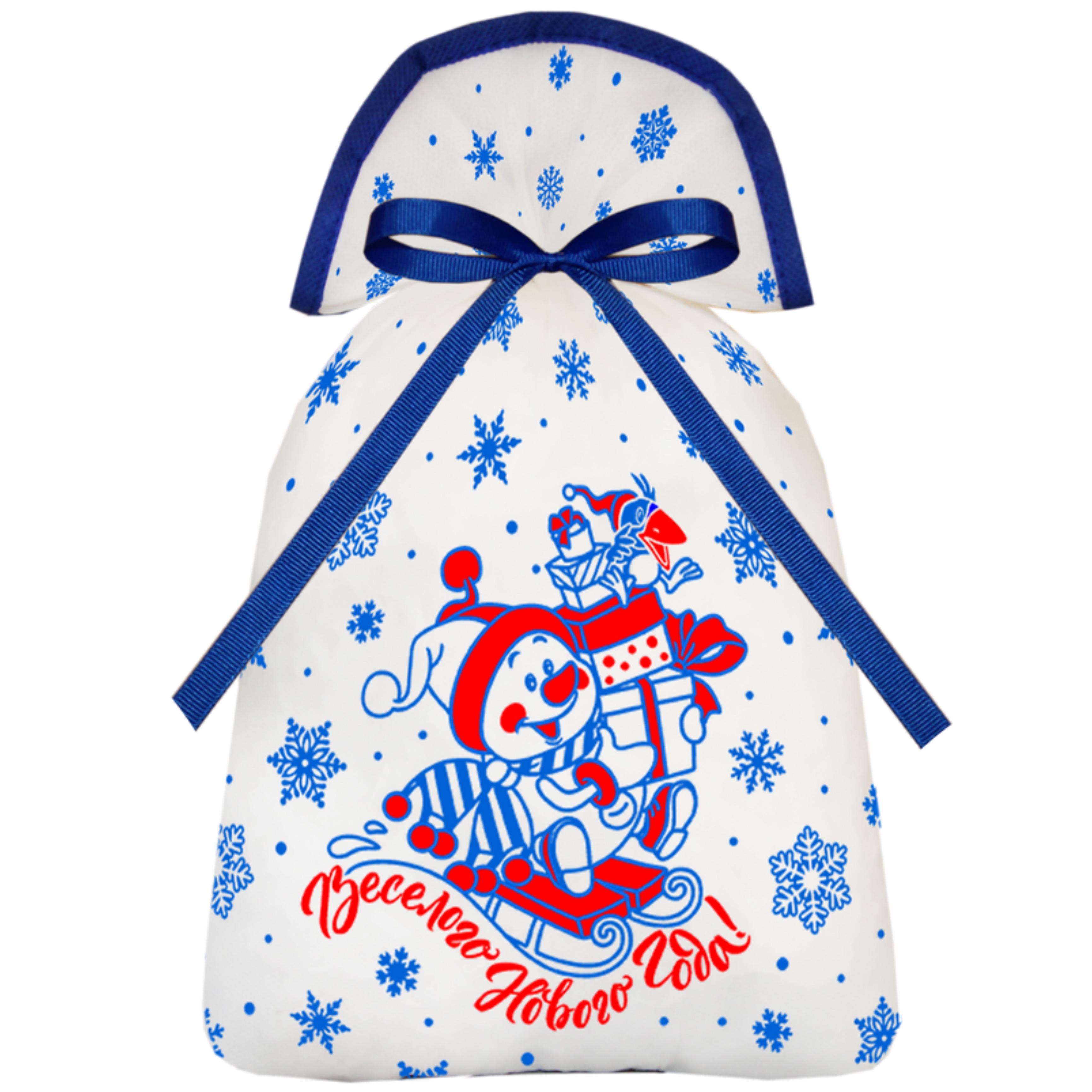 Мешочек Снеговик (текстиль)